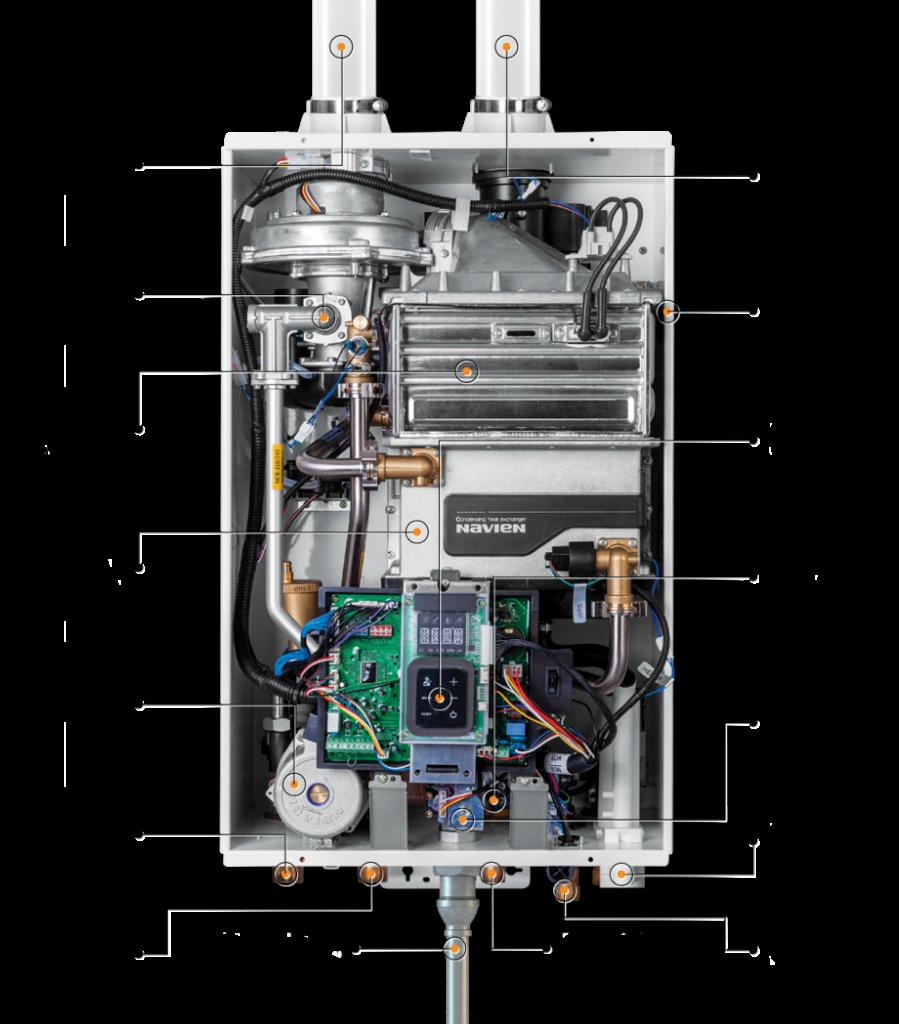 inside navien tankless water heater